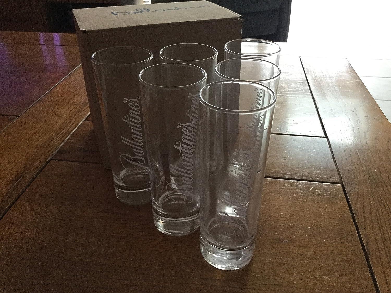 lot de 6 verres long tube Ballantines