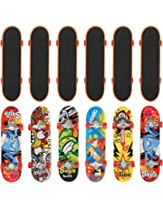 12 Finger Skateboard Set in Assorted Fingerboards Designs - Perfect for Birthday Party Favors, Piñata Fillers, Goody Bags, Prizes