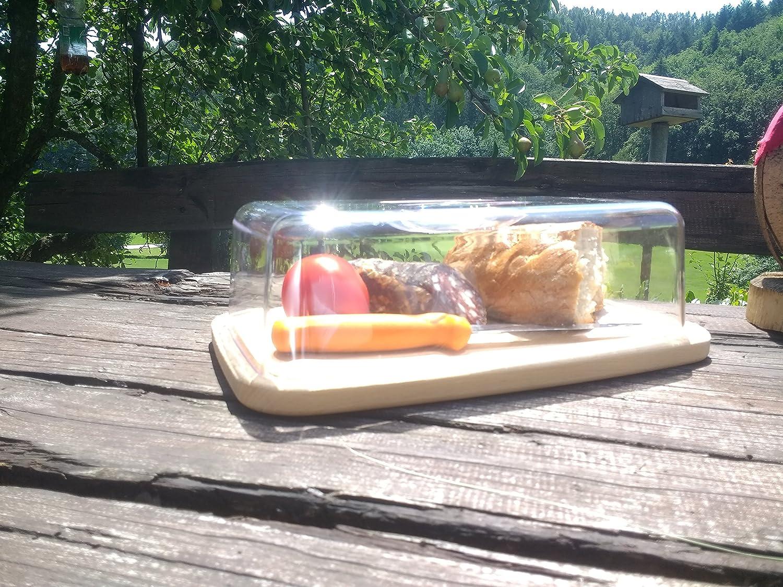 Tuuli Corp. Corp. Corp. Käseglocke Käsebrett Käseplatte Holzbrett aus Holz Buche Natur Plastik Aufbewahrung von Käse Aufschnitt Brot Kuchen (36x23x12cm) B07D6QMTJM Kseplatten & -bretter 0cf101