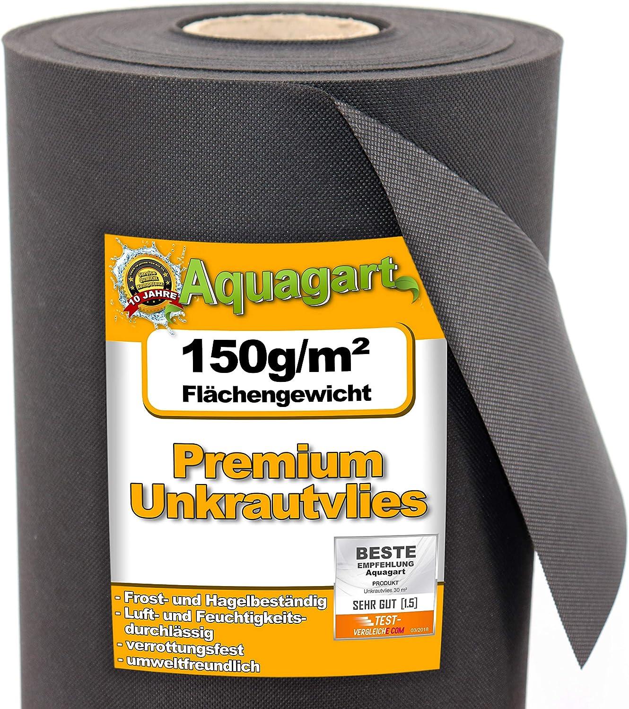 10m x 2m Unkrautvlies Gartenvlies Unkrautfolie Mulchvlies Beetvlies weiß 150g//m²