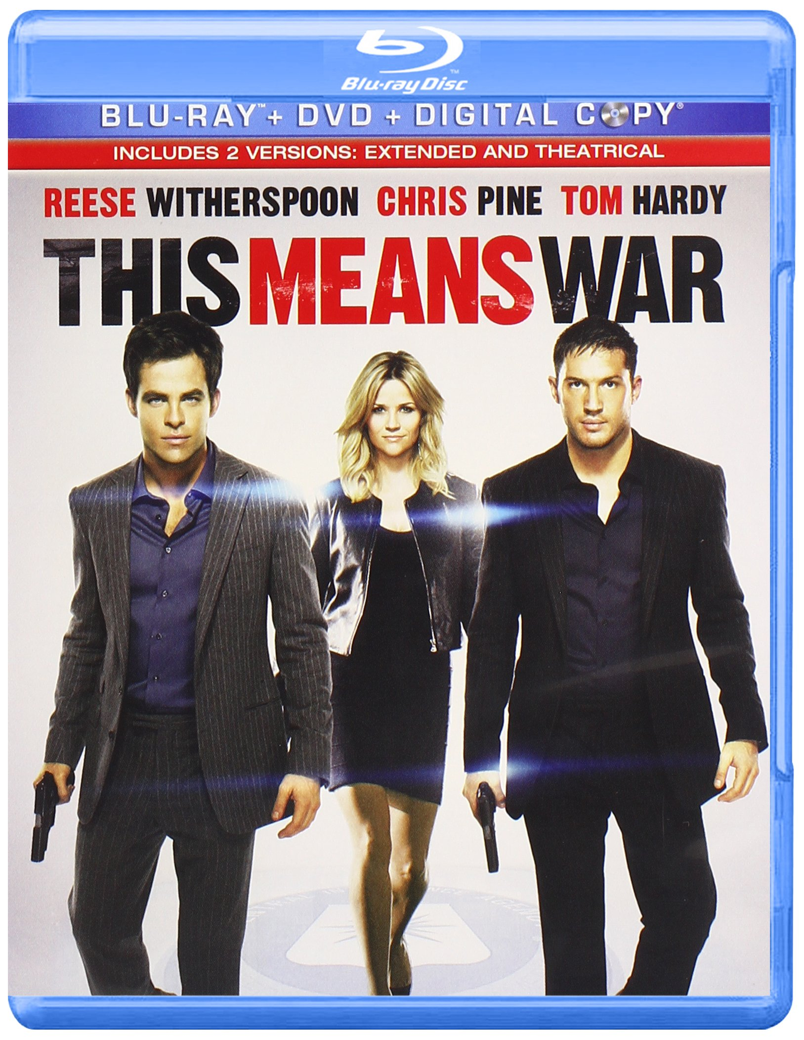 Blu-ray : This Means War (With DVD, Widescreen, AC-3, Dolby, Digital Theater System)