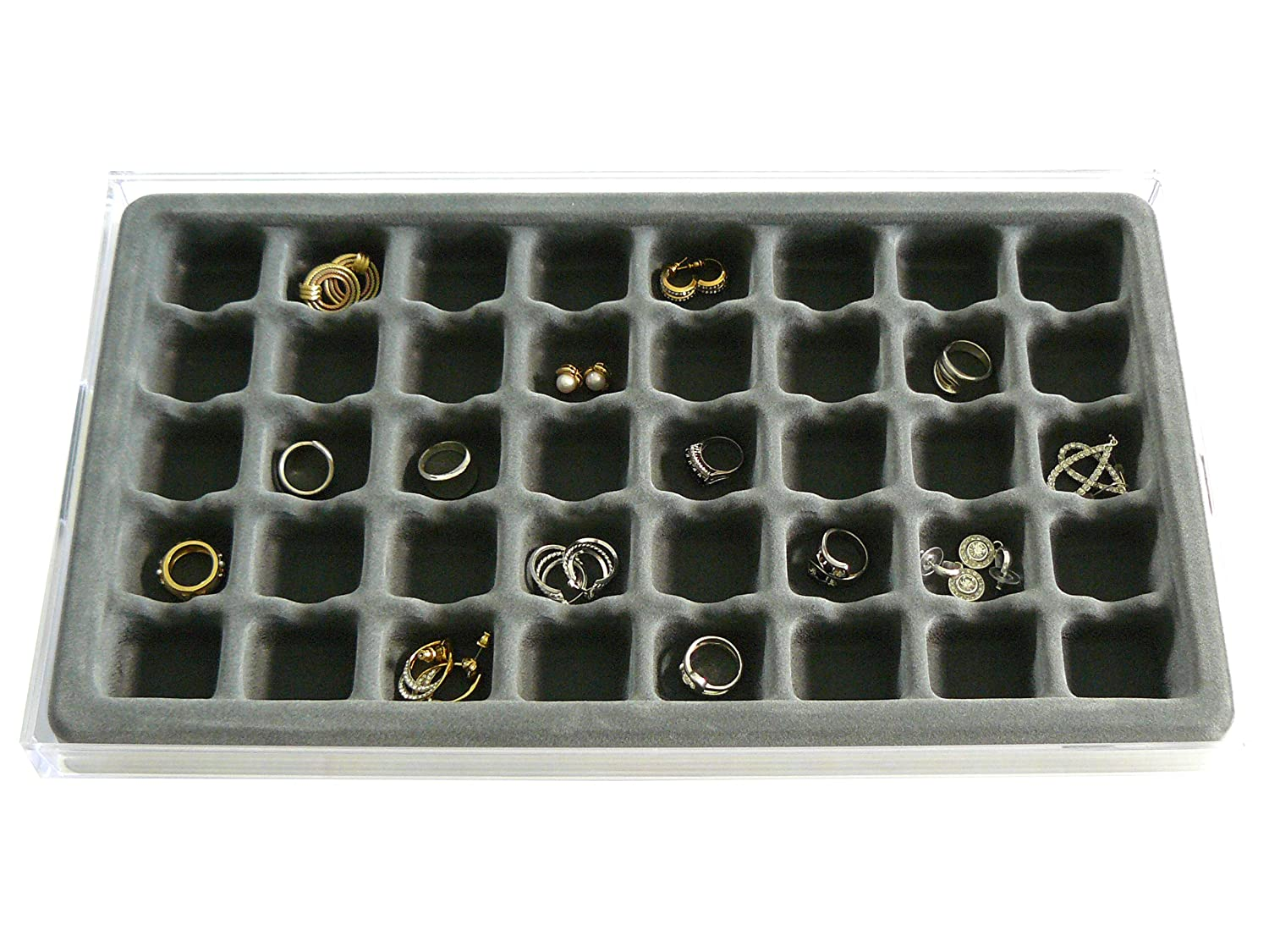 Amazoncom Jewelry Organizer Stack Em 40 compartment Box Large Ring