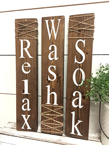 Amazon Rustic Bathroom Signs