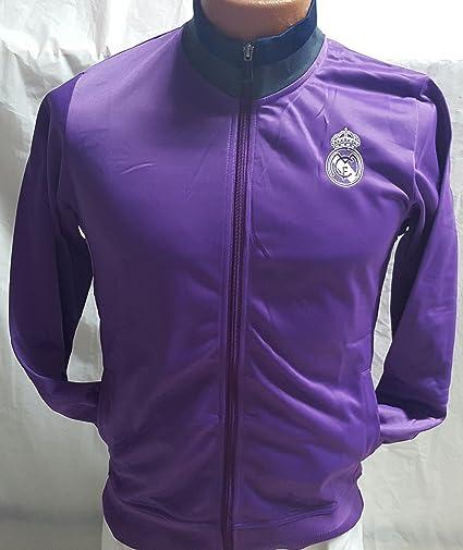Nueva chamarra de Real Madrid púrpura adulto grande  Amazon.com.mx ... f76e3d3188d19
