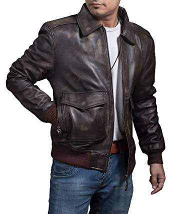 ad242b352 Men's Air Force A-2 Leather Flight Bomber Jacket - Inspired ...