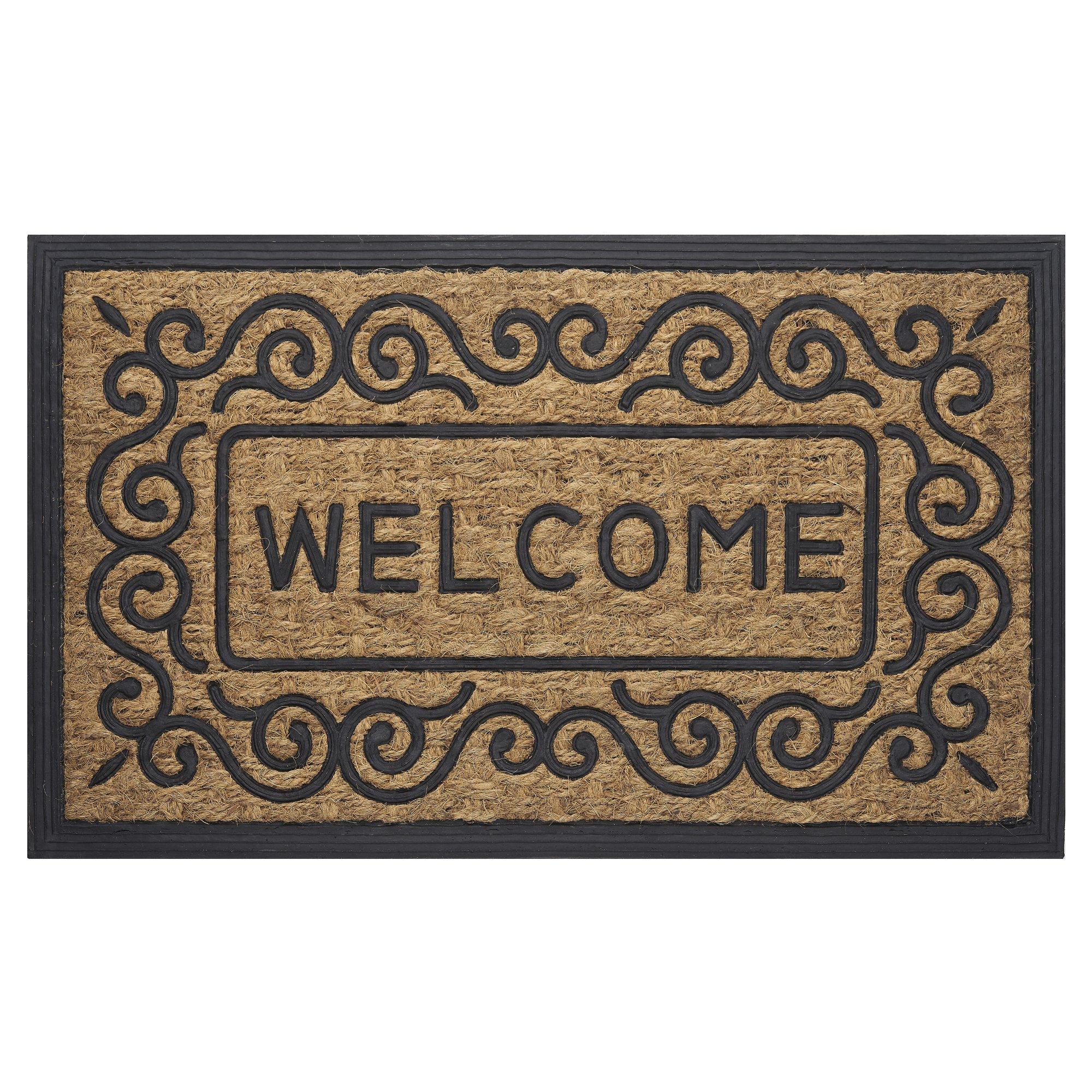 Achim Home Furnishings COM1830SC6 Scrolls Coco Door Mat, 18 by 30''