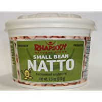 Fresh NATTO, Made in Vermont - Sticky Fermented Non-GMO Soy Beans, 3.5 oz - Case of 12