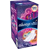 Always Radiant Overnight with Wings Scented Pads, 22 Count