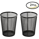 MaxGear Mesh Pen Holder Metal Pencil Cup Pen Organizer Large-Size 2Pack