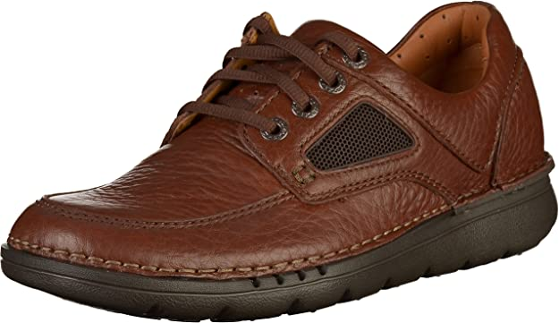 TALLA 43 EU. Clarks Unnature Time, Zapatos de Cordones Derby Hombre
