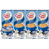Nestle Coffee mate Coffee Creamer, French Vanilla, Liquid Creamer Singles, Box of 50 Singles (Pack of 4)