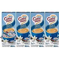 Nestle Coffee mate Coffee Creamer, French Vanilla, Liquid Creamer Singles, Box of 50 Singles (Pack of 4)
