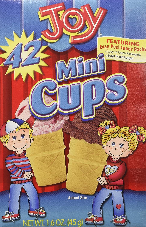 Joy Mini Cups Miniature Ice Cream Cones For Kids, Desserts, Cupcake Cones, Cake Pops 42 Count (1 Box/42 cones) 7209201242