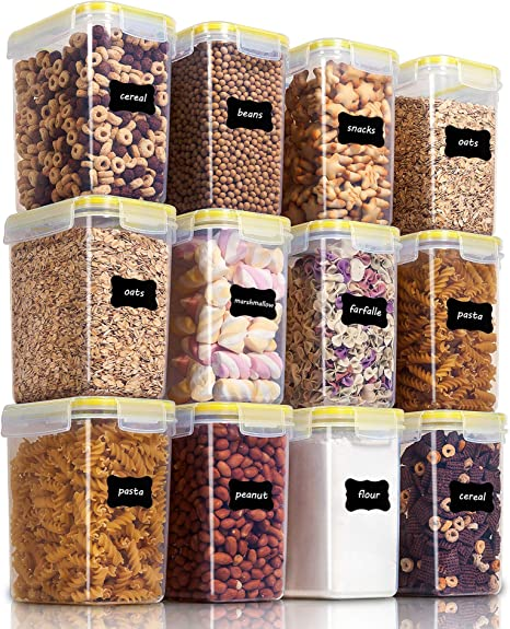 1.6L //54oz Set of 10 ... SPACE SAVER Food Storage Airtight Pantry Containers