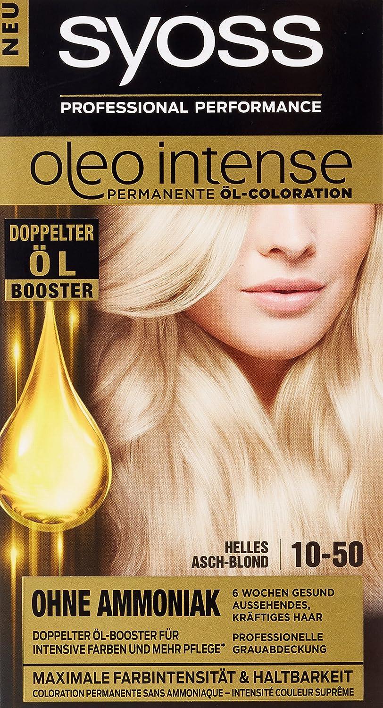Syoss Oleo Intense Tinte para el cabello, rubio ceniza claro, 3 unidades (3 x 115 ml)