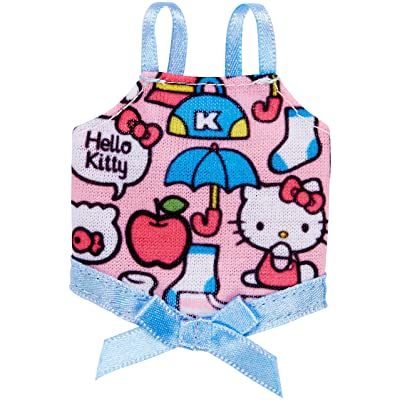 Barbie Fashions Hello Kitty Pink Print Tank with Blue Bow: Toys & Games