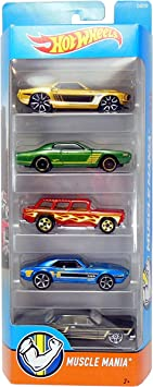 Hot Wheels, 2016 Muscle Mania 5-Pack by: Amazon.es: Juguetes y juegos