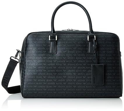 7c3fb0282000 Amazon.com  Armani Jeans Men s All Over Logo Pu Duffle Bag
