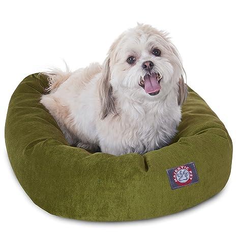 Micro Terciopelo Bagel Perro Cama de Majestic Mascota Productos