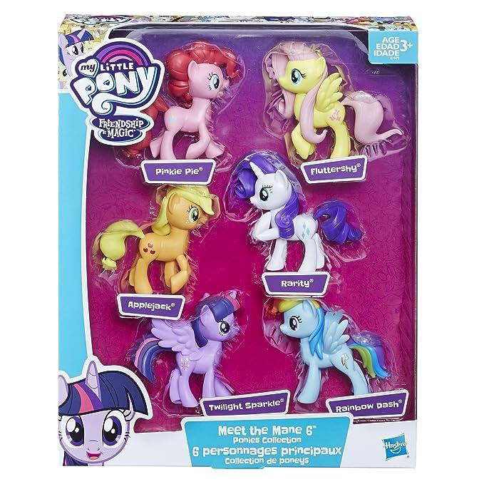 Amazon Com My Little Pony Meet The Mane 6 Ponies Collection Toys