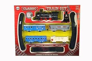 A to Z 01577 Classic Funciona con Pilas Tren Set con luz y Sonido