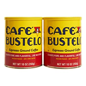Cafe Bustelo Espresso Ground Coffee, 10 oz Canister, 2 Pack