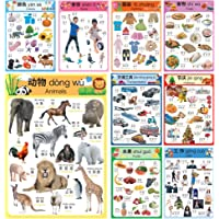 Learn Chinese for Kids Poster Set. Montessori-Inspired. Bilingual with Chinese-English. for Kids, Toddlers, and…