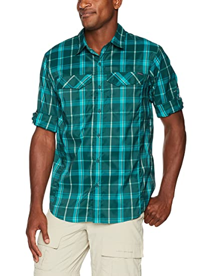 a0ed2ff9691 Columbia Men's Silver Ridge Lite Plaid Long Sleeve Shirt, Dark Ivy Large  Plaid, X-Large: Amazon.in: Sports, Fitness & Outdoors