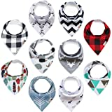 Baby Bandana Drool Bibs 10-pack for Boys &...