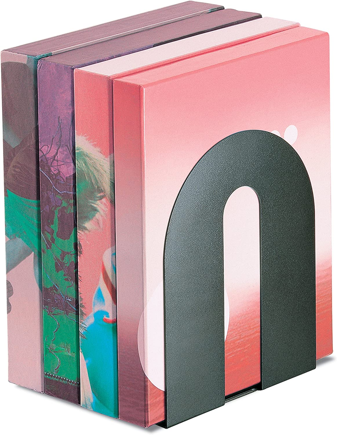 Officemate Heavy Duty Magnetic Bookends, Pair, Black (93186)