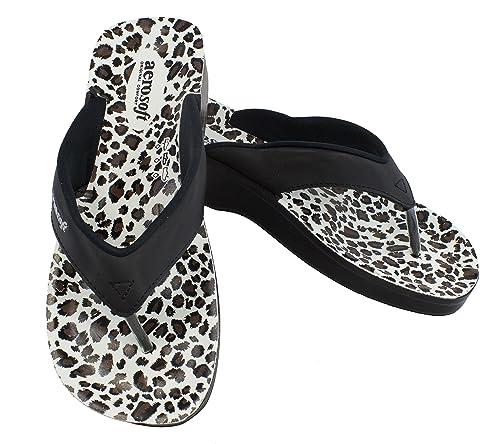 b969bd84ebf Aerosoft Leopard Women s Sandals Black Size 6