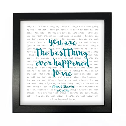 Ray LaMontagne, You Are The Best Thing, Song Lyrics Print Framed U0026  Personalised