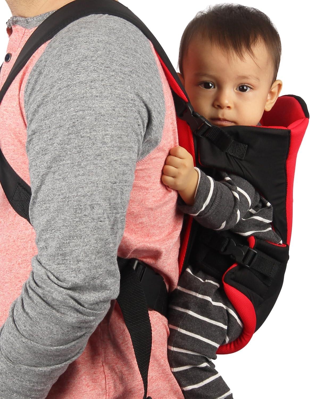 Porte-b/éb/é multiple positions Ajustable de marque Neotech Care Mat/ériel respirant Couleur noir et rouge ventral ou dorsal