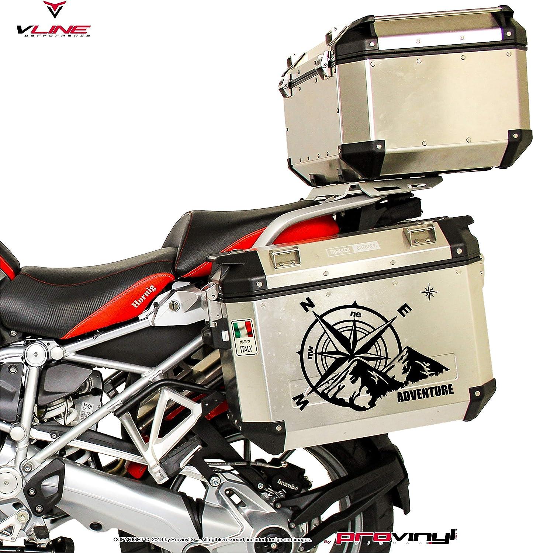 2 Estrellas para Coche o Moto Provinyl Pegatinas Br/újula Rosa de los Vientos Trail Off Road Todoterreno 4x4 Sport Verde