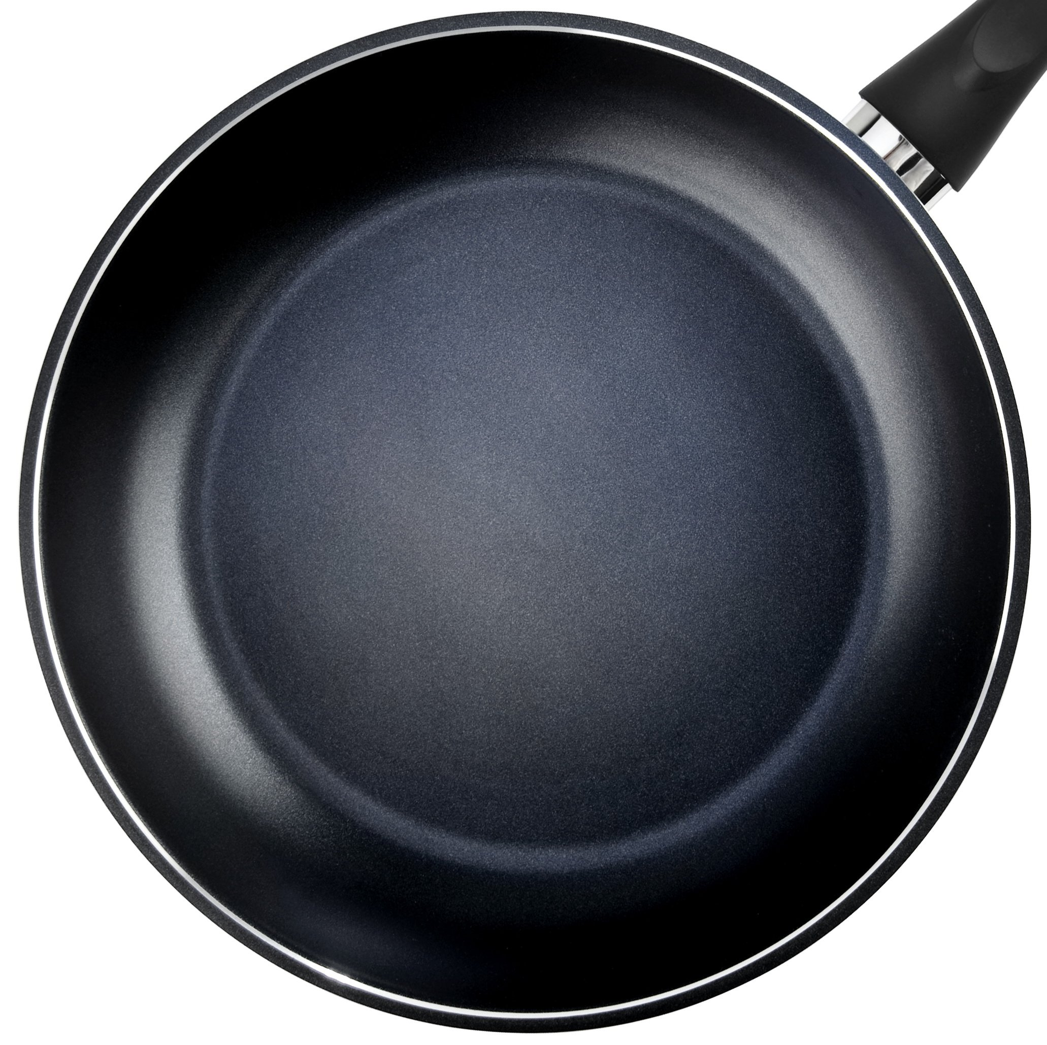 TeChef - Color Pan 12'' Frying Pan, Coated with DuPont Teflon Select - Colour Collection / Non-Stick Coating (PFOA Free) / (Pure Black)