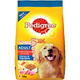 Pedigree Chicken & Vegetables,Dry Dog Food for Adult Dogs, 1.2Kg