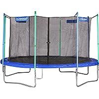 HUDORA Trampolin Fitness, blau - Garten-Trampolin mit Sicherheitsnetz