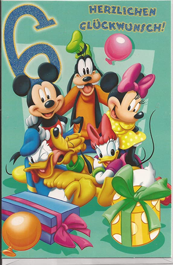 Tarjeta de cumpleaños para el sexto cumpleaños Disney All ...