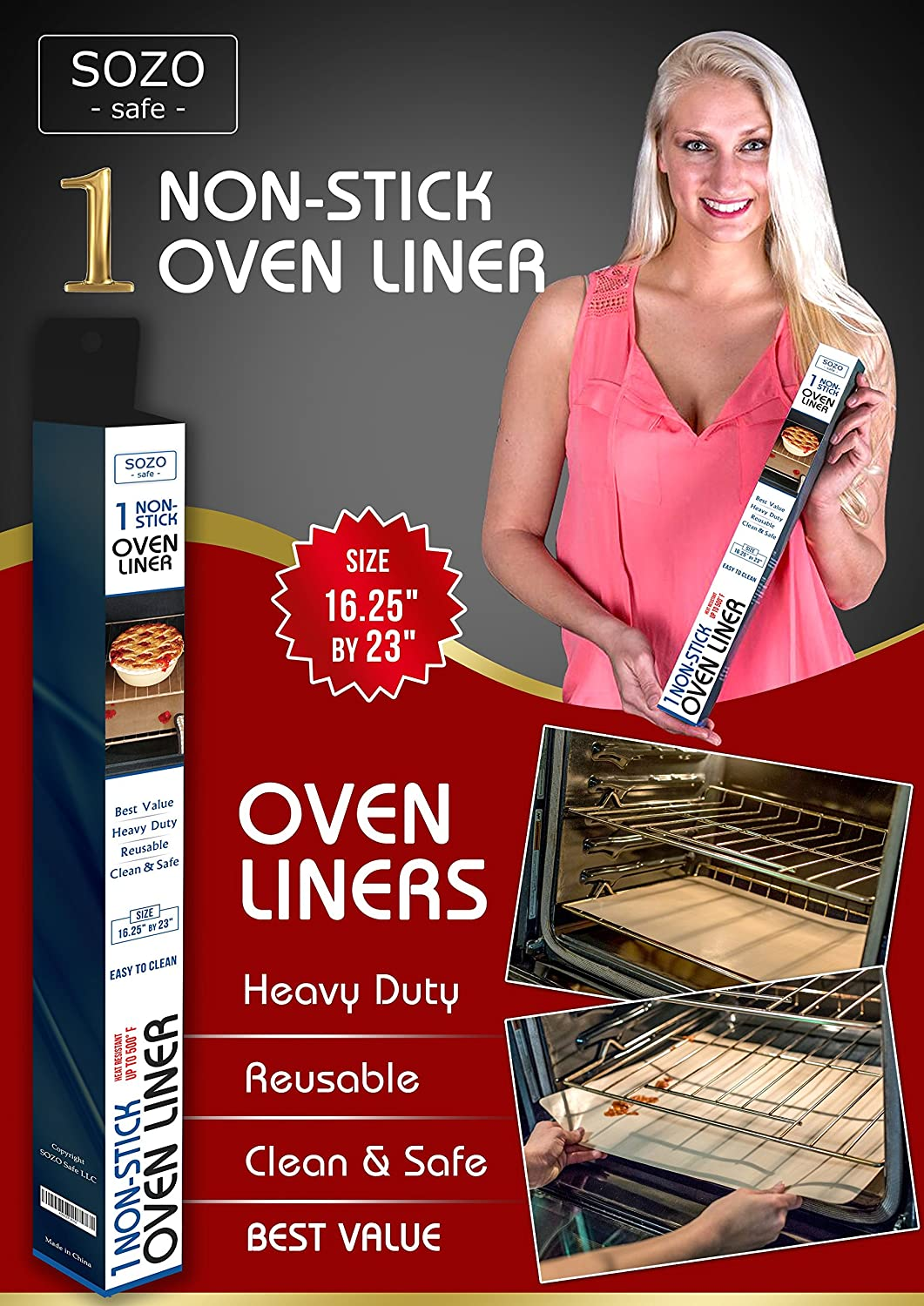Oven & Grill Liners (1 Tan Oven Liner)