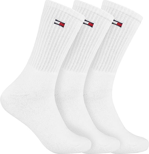 Tommy Hilfiger - Calcetines de deporte - para hombre blanco-azul 39-42: Amazon.es: Ropa y accesorios