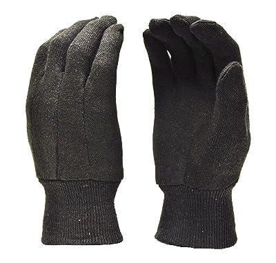 G & F 4408 Heavy Weight 9OZ. Brown Jersey Work Gloves