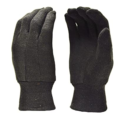 65fc55d78b395 Cotton Brown Jersey Work Gloves, Knit Wrist, Sold by Dozen (12-Pairs) -  Large - Work Gloves - Amazon.com