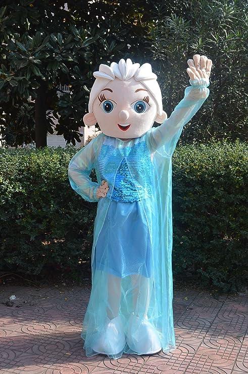 Frozen Princesa Elsa mascota disfraz para adulto: Amazon.es ...