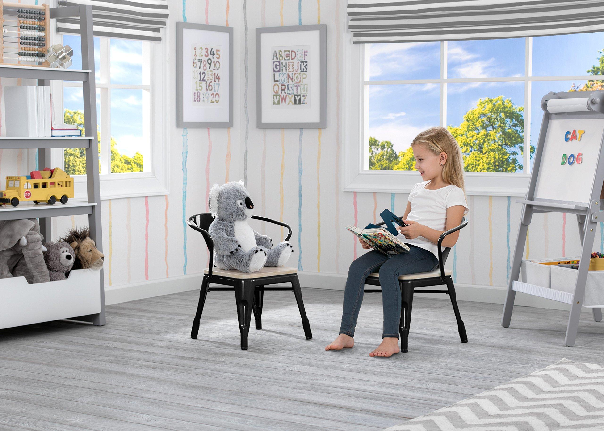 Delta Children Bistro 2-Piece Chair Set, Black with Driftwood by Delta Children (Image #2)