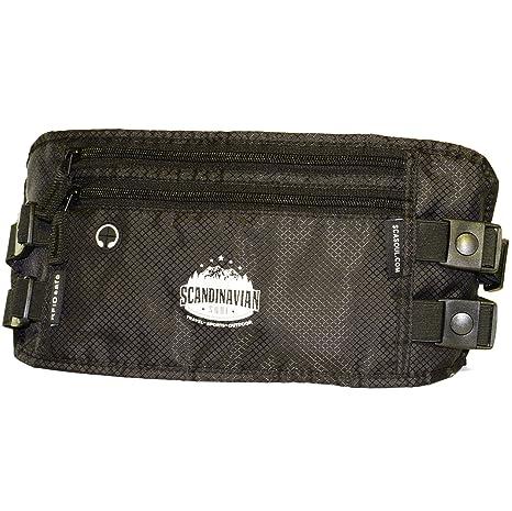 Cinturón Monedero con Protección RFID para viajes y deporte - Riñonera segura Cinturón Monedero Carter