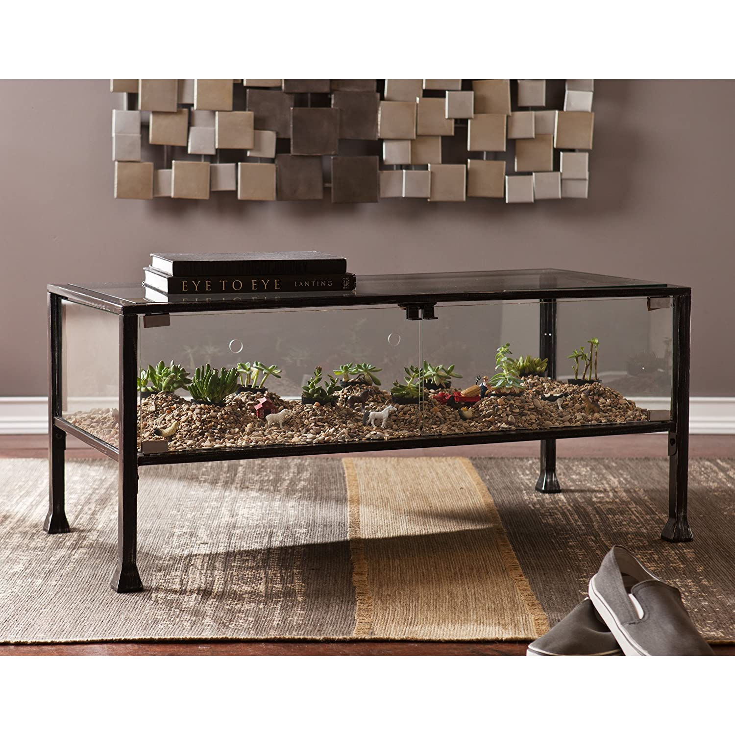 Amazon Southern Enterprises Terrarium Display Cocktail Coffee