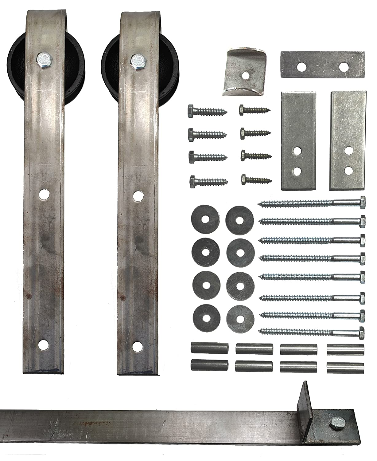 Sliding Barn Door Hardware Kit with 8 Ft. Track Included - Made in USA Amazon.com Industrial u0026 Scientific  sc 1 st  Amazon.com & Sliding Barn Door Hardware Kit with 8 Ft. Track Included - Made in ... pezcame.com