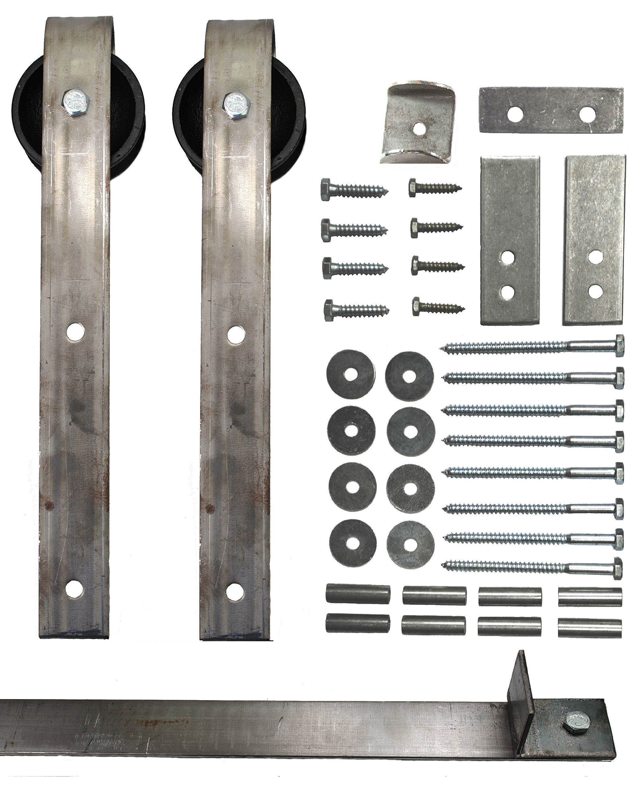 Sliding Barn Door Hardware Kit with 7 Ft. Track Included - Made in USA
