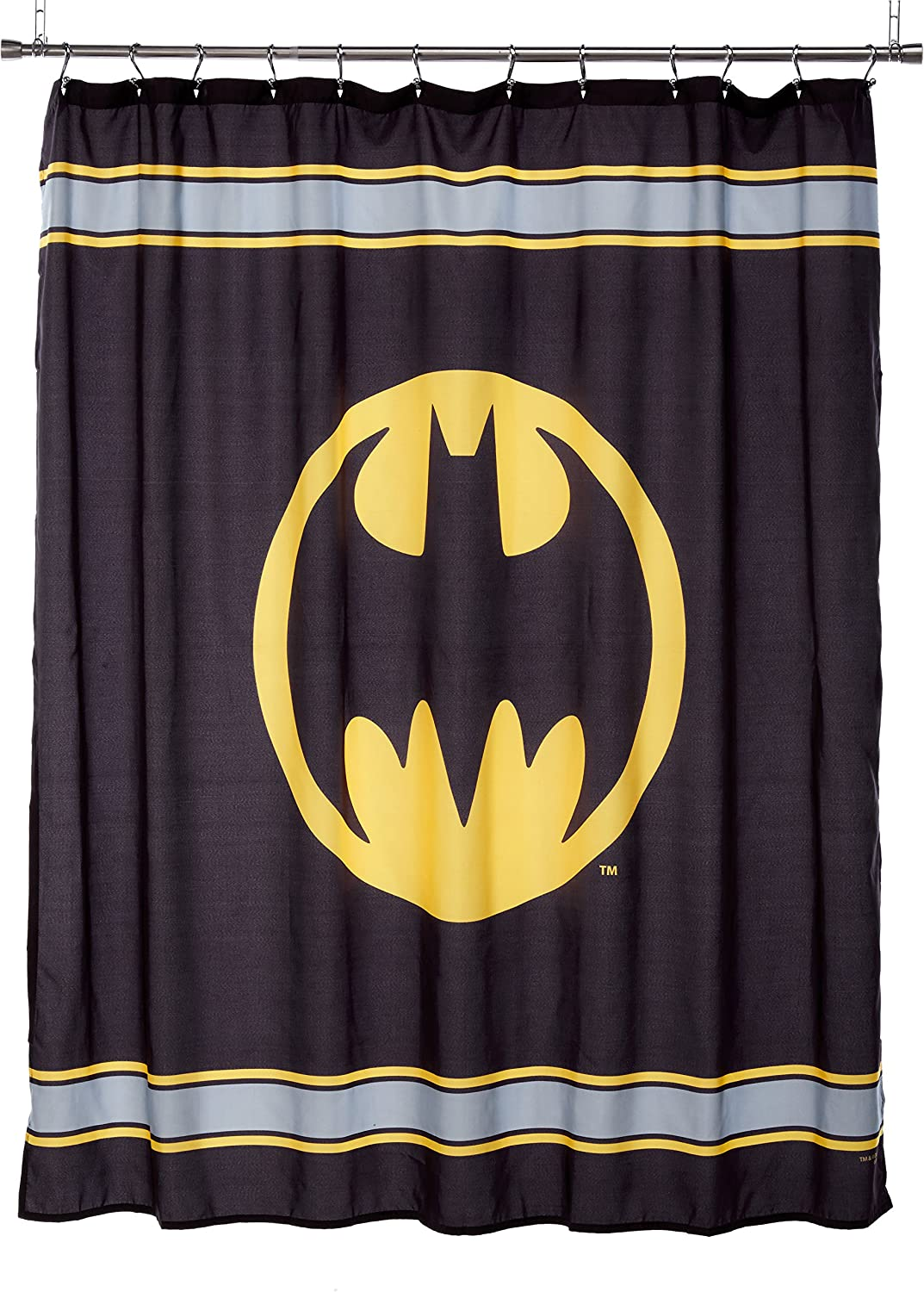 Batman Logo Microfiber Shower Curtain 72 Inch By