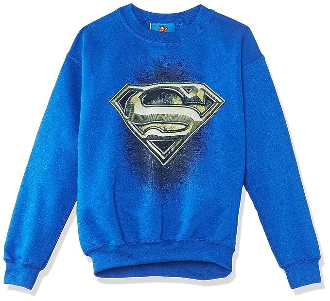 Dc Comics Superman Engraving Logo, Sudadera, Niños, Azul (Royal Blue), 12-13 años: Amazon.es: Ropa y accesorios